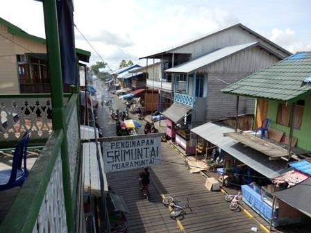 Muara Muntai wooden village