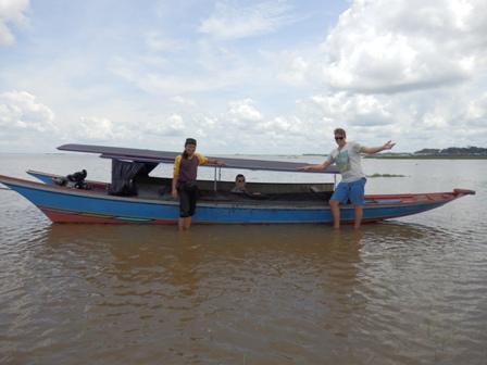 Mahakam trip with canoe
